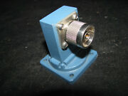 Nos Wr112 Waveguide To Coaxial Rt Angle Adapter Type N / Male 7.05-10 Ghz