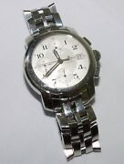 Baume And Mercier Capeland 39mm Chrono Automatic Stainless Menand039s Watch Mv045216