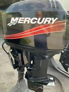 Used 2001 Mercury 50 Hp 3-cyl Carbureted 2-stroke 20 L Outboard Motor