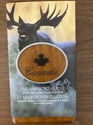 2004 Canada The Majestic Moose 5 Silver Proof Coin And Stamp Set In Case