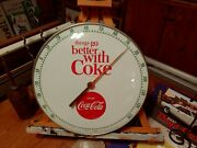 Coca Cola Things Go Better With Coke 12 Thermometer