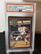 1995 Action Packed 24 Kt Gold Derek Jeter Autographed Authentic Rare 🔥🔥💎💎