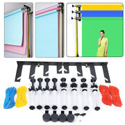 Photography 4-roller Wall Mounting Manual Background Support System Collapsible