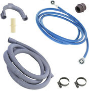 Universal Washing Machine Inlet Fill Water And Waste Drain Hose Extension Kit 2.5m