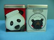 Lot Of 2 Swiss Miss Decorative Metal Tins Decorated With Bears