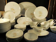 Vintage Mikasa Fine China Elaine 6102 Service For 10 With Extras And Platters