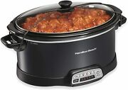 Programmable Slow Cooker With Three Temperature Settings 7-quart + Lid Latch
