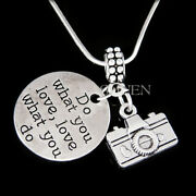 Camera Lens Photography Necklace Keychain Photographer Teenager 16 Birthday Gift