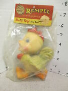 Rempel 1950s Rubber Squeeze Figural Toy Mip Rooster Chicken Farm Animal Baby Toy