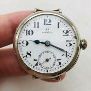 Rare Omega Cushion Trench 10andrsquos Wwi Military Swiss Vtg Watch Wrist Old Classic