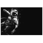 Astronaut And Canvas Painting Black And White Poster And Prints Wall Art Picture