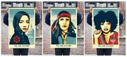 We The Future Obey Giant Shepard Fairey Set Of 3 Signed Numbered Screen Prints