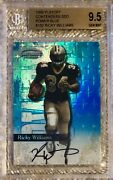 1999 Playoff Contenders Power Blue Auto /50 Ricky Williams Rc Bgs 9.5 Pop 4