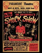 """Paramount Theater """"dr Brundell's Shock Show"""" 4x6 Print From Vintage Ad"""