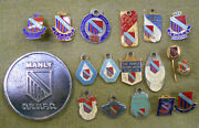 D271.  Lot Of Manly Rugby Union Club Badges, Pins And Medal
