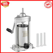 5 Lb. Vertical Stainless Steel Manual Sausage Stuffer Meat Processing Equipment