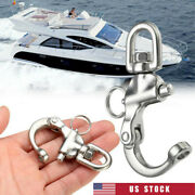 316 Stainless Steel Quick Release Boat Anchor Chain Eye Shackle Swivel Hook Us