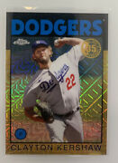 2021 Topps Chrome Silver Pack 86bc-4 Clayton Kershaw Gold Refractor 22/50