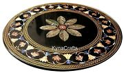 48 Inches Marble Dining Table Top Antique Pattern Conference Table For Office
