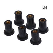 6x M4 Rubber Well Nuts Kayak Accessory Blind Fastener Rivet Fishing Boat Nutyjna