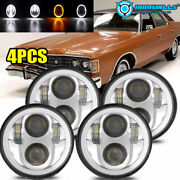 4x 5 3/4 5.75inch Led Headlights Beam H5006 Fit For Ford Galaxie 500 1962-1974