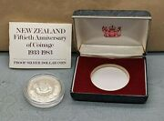 Lovely 1933 New Zealand Coinage 1983 One Dollar Proof Silver Coin Su953