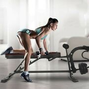Incline Abs Bench Abdominal Crunch Weight Training Board W/ Fitness Rope Sit Up