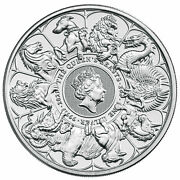 Queen's Beasts Completer 2021 5 Pound Coin 2 Oz Silver Bu Pre-sale