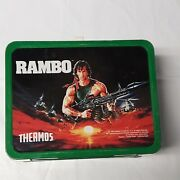Vintage Rambo Metal Lunch Box 1985 No Thermos Anabasis Investments