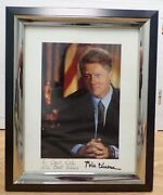 President Bill Clinton Personalized Autographed Photo Framed 8x10 W/coa