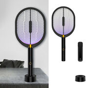 3 In 1 Home Electric Mosquito Swatter Insect Killer Bug Zapper Rechargeable