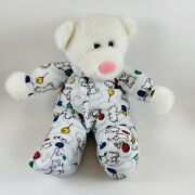 Carters Toy White Teddy Bear Balloons Rattle Plush Terry Cloth Vintage Rare