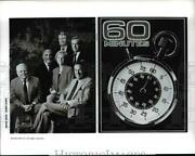 Press Photo Andy Rooney Ed Bradley And Lesley Stahl In 60 Minutes...25 Years