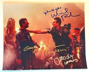 Aliens Photo Cast Signed By Bill Paxton Michael Biehn And Jenette Goldstein Auto's