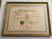 Jefferson Davis 1864 Document Signed As President Of The Confederate States
