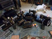Singer Original Chain Stitch Childs Sewing Machine Lot Of 4 Parts And Repair Lot