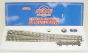 Atlas 6022 O 7.5 Right Hand Nickel Silver High Speed Switch Turnout Ln/box
