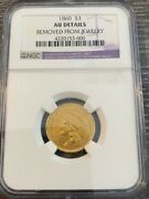 Avc - 1860 Three Dollar Gold Ngc Au Details - 7,036 Minted