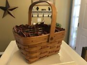 Longaberger Large Berry Basket 1500bo With Weavers Initials And Date 1991