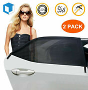 Car Window Screen Mesh Cover Privacy Mosquito Bugs Net Sun Uv Protection Camping