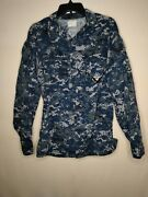 Menand039s Navy Digital Blue Camo Jacket Tag Has Worn Off Request For Measurements