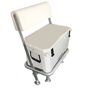 85qt 80l Fishing Cooler And Leaning Post - White - Molded Plastic