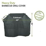 Cuisinart Heavy Duty Barbecue Gray 4 5 Burner Gas Grill Cover Uv Water Protected