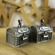 A Set Of My First Tooth And Curl Trinket Boxes Tin Baby Keepsake Christening Boy