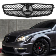 For Mercedes-benz C-class W204 Front Grill W/led Emblem C300 C350 2007-14 Grille