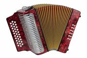 Hohner 3523gr Corona Ii Classic Gcf Accordion Pearl Red With Gig Bag And Straps