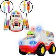 Wolvol Educational Ambulance Activity Toy With Medical Equipment Realistic...