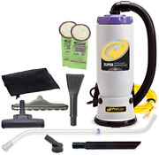 Proteam Commercial Backpack Vacuum Cleaner, Super Quartervac Vacuum Backpack Wit