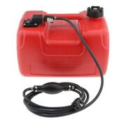12l Marine Boat Portable Fuel Tank W/ Connector For Yamaha Outboard Motors