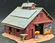Bachmann N Scale Barn Summer Theater Vintage Building Work Site